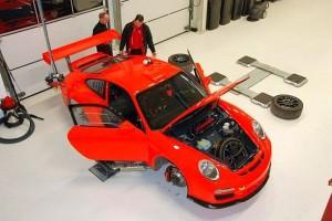 2012 Porsche im Aufbau